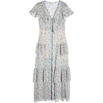 《セール開催中》TOPSHOP レディース ロングワンピース&ドレス ライラック 14 ポリエステル 100% FLORAL TIERED MIDAXI DRESS
