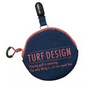 朝日ゴルフ ボール拭き&パターキャッチャー(ネイビー/レッド) TURF DESIGN Ball cleaner & putter catcher TDBP-1870 NV 【返品種別A】