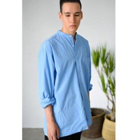 【ビショップ/Bshop】 【unfil】コットンウェザー スタンドカラーシャツ MEN