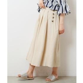 【レイカズン/RAY CASSIN】 麻風横ボタンスカート