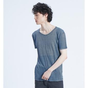 【アバハウス/ABAHOUSE】 【BLEU DE COCAGNE】クルーネックボーダーTシャツ