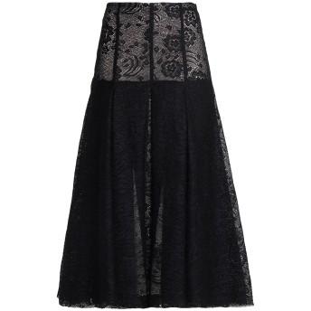 《セール開催中》EMILIA WICKSTEAD レディース ロングスカート ブラック 6 コットン 45% / ナイロン 35% / レーヨン 20%