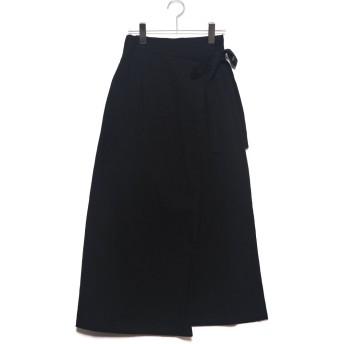 スタイルブロック STYLEBLOCK スラブガーゼラップスカート (ブラック)