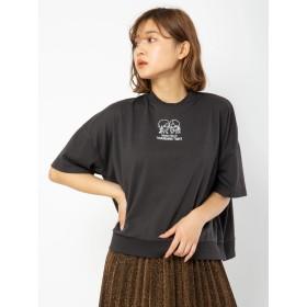 セシルマクビー CECIL McBEE 刺繍ロゴトップス (ブラック)