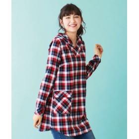 綿100%デザインチュニックシャツ (大きいサイズレディース)チュニック,plus size