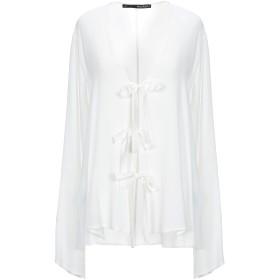 《セール開催中》ANNARITA N レディース シャツ ホワイト 46 アセテート 65% / シルク 35%