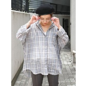 【アングリッド/Ungrid】 ガーゼチェックルーズシャツ
