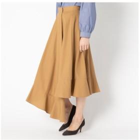 【エリオポール/HELIOPOLE】 HELIOPOLE ハイツイストコットンギャバ アシメラップスカート