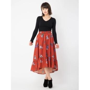 【セシルマクビー/CECIL McBEE】 フラワーフィッシュテールスカート