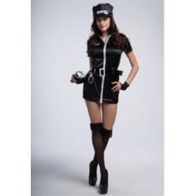 警察衣装 ハロウィン パーティー仮装 ポリス レディース  セットアップ セクシー コスチューム 大人用 コスプレ