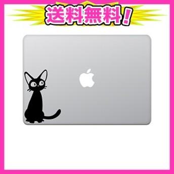カインドストア MacBook Air/Pro 11 / 13インチ マックブック ステッカー シール ジジ 猫 黒猫 (大) 13インチ ブラック M436
