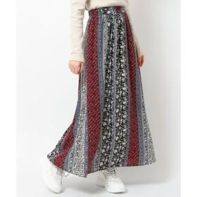 【レイカズン/RAY CASSIN】 フラワーパネルスカート