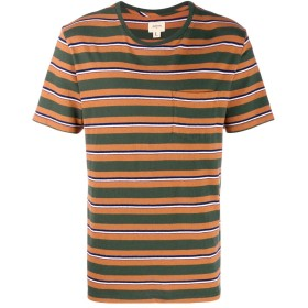 Bellerose ストライプ Tシャツ - グリーン