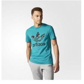 アディダス オリジナルス Tシャツ メンズ トレフォイル ティー Tシャツ グリーン adidas originals Men's Trefoil Tee MULTI