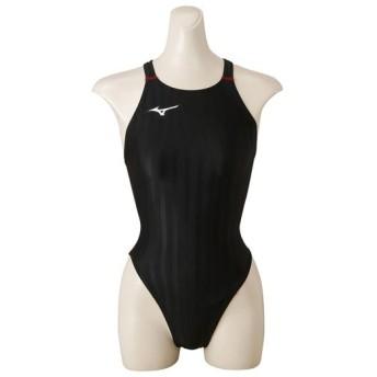 MIZUNO SHOP [ミズノ公式オンラインショップ] 競泳用ハイカット[ジュニア] 96 ブラック×レッド N2MA8421