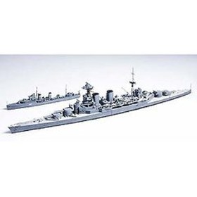 タミヤ 1/700 イギリス海軍巡洋戦艦フッド & E級駆逐艦 北大西洋追撃作戦【31806】 プラモデル T WL806フッド Eキュウ 【返品種別B】
