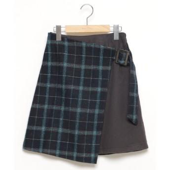 【レイカズン/RAY CASSIN】 ラップ風台形スカート