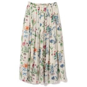 【シップス/SHIPS】 フラワープリントスカート