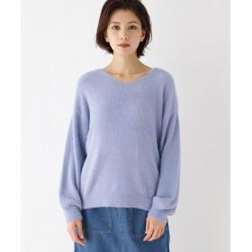 ニット・セーター - OZOC 【洗える】フェザーVネックニットプルオーバー