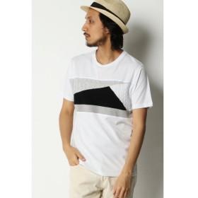 【イッカ/ikka】 ニット切り替えクルーネックTシャツ