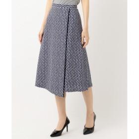 【ジユウク/自由区】 【Class Lounge】OPTICAL PRINT スカート