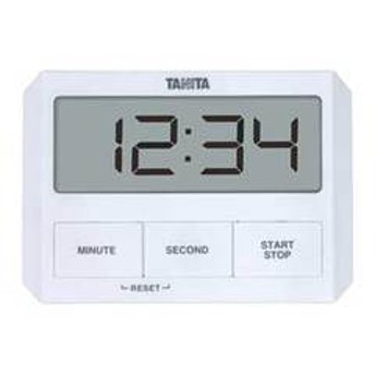 タニタ デジタルタイマー ホワイト TANITA ガラスにつくタイマー TD-409-WH 【返品種別A】