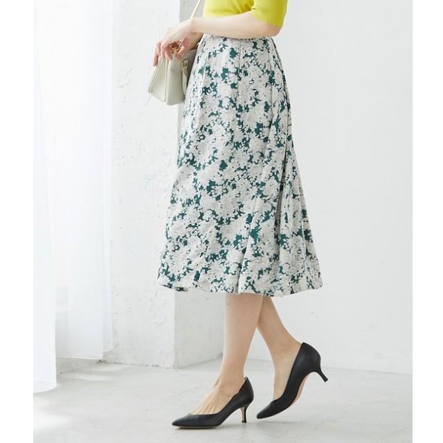 【ロペ マドモアゼル/ROPE madmoiselle】 【SS/S/Lサイズあり】フラワープリントスカート