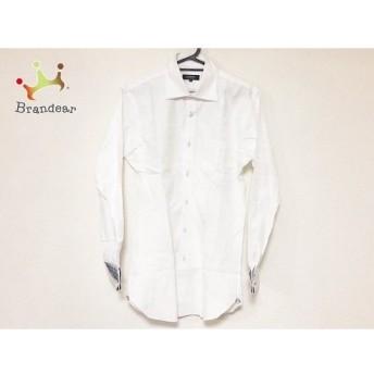 バーバリーブラックレーベル 長袖シャツ サイズ38 M メンズ 美品 白 チェック柄 新着 20190724