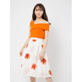 【セシルマクビー/CECIL McBEE】 花柄フレアスカート