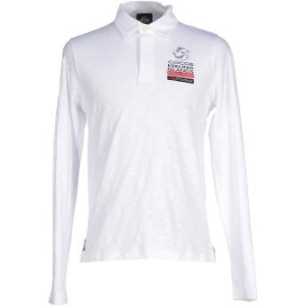 《期間限定セール開催中!》LEVIATHAN メンズ ポロシャツ ホワイト L コットン 100%