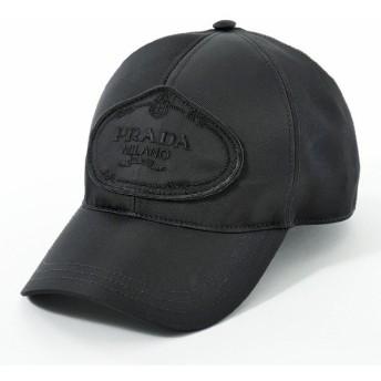 PRADA プラダ 2HC143 820 F0002 ナイロン ベースボールキャップ 帽子 ロゴ刺繍 NERO ユニセックス レディース