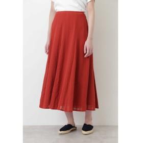 【ヒューマンウーマン/HUMAN WOMAN】 ◆楊柳ストライプマチスカート