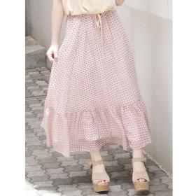 【ダズリン/dazzlin】 コモンプリントラッフルマキシスカート