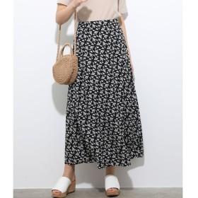 【ビス/ViS】 単色花柄プリントマーメイドスカート