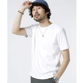 【ナノ・ユニバース/nano・universe】 天竺×ワッフルリバーシブルクルーネックTシャツ