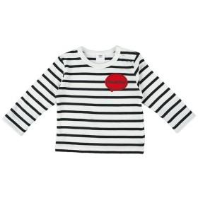 Tシャツ [ベビー]シンプルフリー Tシャツ ワッペン 長袖 ブラック ベビー・キッズウェア ベビー(70~95cm) トップス(男児) (170)