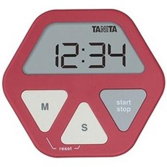 タニタ デジタルタイマー 「ガラスにつくタイマー」 TD-410-RD レッド
