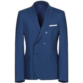 《期間限定セール開催中!》GREY DANIELE ALESSANDRINI メンズ テーラードジャケット ブルー 46 ポリエステル 64% / レーヨン 24% / ウール 10% / ポリウレタン 2%