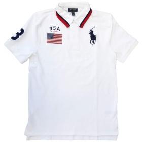 (ポロ ラルフローレン)POLO Ralph Lauren ポロシャツ 半袖 BOYSサイズ BIGPONY ホワイト×ネイビー XL(18-20) [並行輸入品]