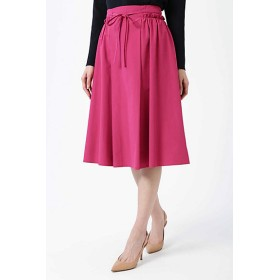 NATURAL BEAUTY タフタサイドギャザースカート