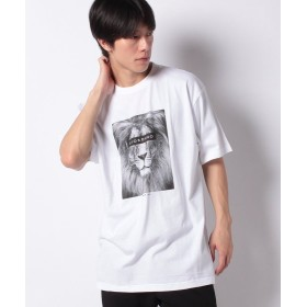 【49%OFF】 ジョルダーノ [GIORDANO]グラフィックプリントTシャツ (ライオン) メンズ ホワイト L 【GIORDANO】 【セール開催中】