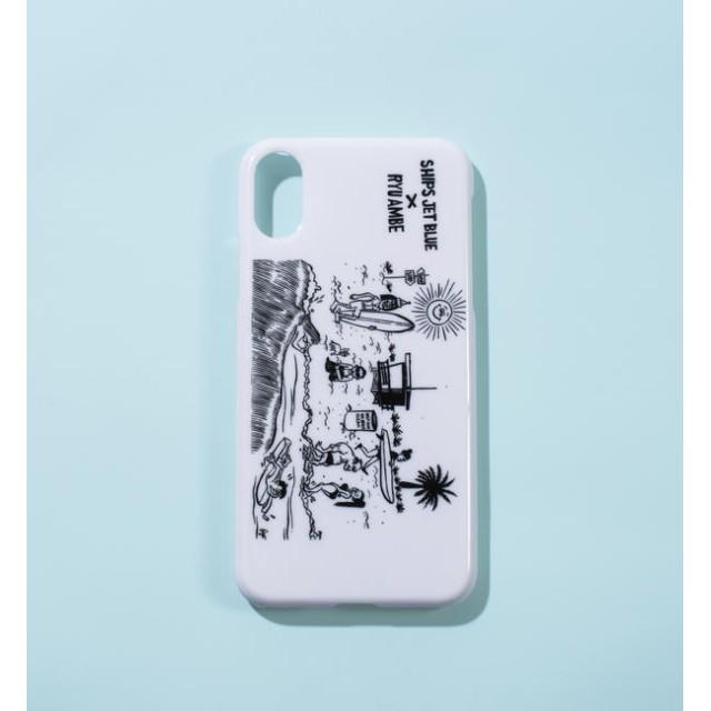 【シップス/SHIPS】 RYU AMBE×SHIPS JET BLUE: 別注 iPhone X/XS ケース
