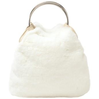 【ティティベイト/titivate】 フェイクファーリングハンドバッグ