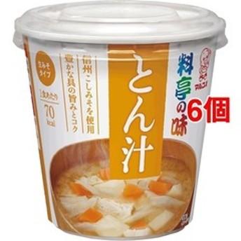 dポイントが貯まる・使える通販| カップ 料亭の味 とん汁 (6コ) 【dショッピング】 スープ・味噌汁 おすすめ価格