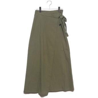 スタイルブロック STYLEBLOCK スラブガーゼラップスカート (カーキ)