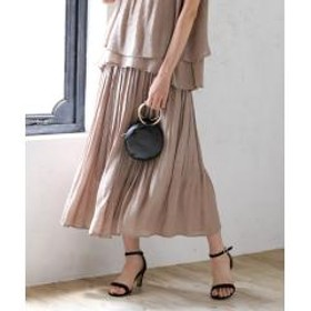 【WEB限定 手洗いできる】ウォッシャブルスラブランダムプリーツスカート【お取り寄せ商品】