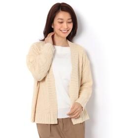 【テチチ/Te chichi】 リブ衿ショールカーディガン
