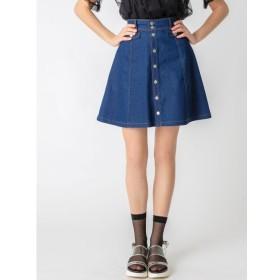 【ダズリン/dazzlin】 【C】デニムフロントボタンミニフレアスカート