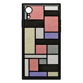 アピロス iPhone XR用ケース TILE スクエア型(ステンドグラス ピンク) EYLE PEI11-TL32-PK 【返品種別A】