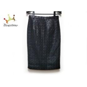 ルシェルブルー LE CIEL BLEU スカート サイズ40 M レディース 新品同様 ダークネイビー×黒   スペシャル特価 20191023